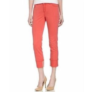 Lafayette 148 New York Cropped Cuffed Jeans